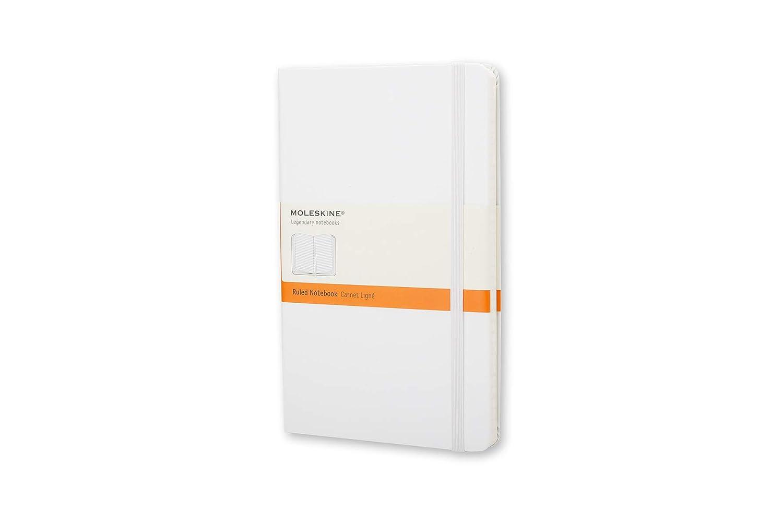 Cuaderno Grande Blanco con páginas rayadas, Moleskine (xmp)