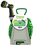 Treeco Lightweight and Heavy-duty Expandable Water Hose with Premium Metal Nozzle, 50-Feet