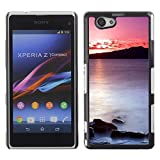 TopCaseStore / Snap On Hard Back Shell Rubber Case Protection Skin Cover - Sunset Sea Beautiful Nature 20 - Sony Xperia Z1 Compact D5503