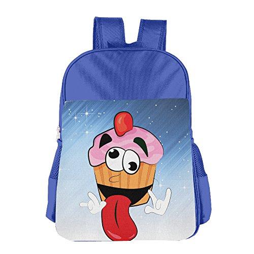 Ongshuquwe Crazy Cupcake Leisure Children Cute Cartoon Schoolbag RoyalBlue