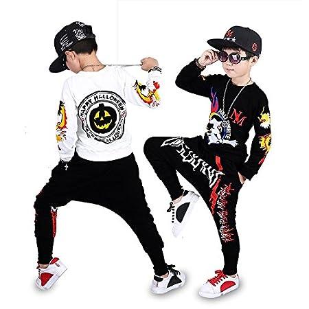 Moyuqi/™ Childrens Jazz Hip Hop Street Dance Suit Boys Camouflage Pants Long Sleevess Autumn Costumes