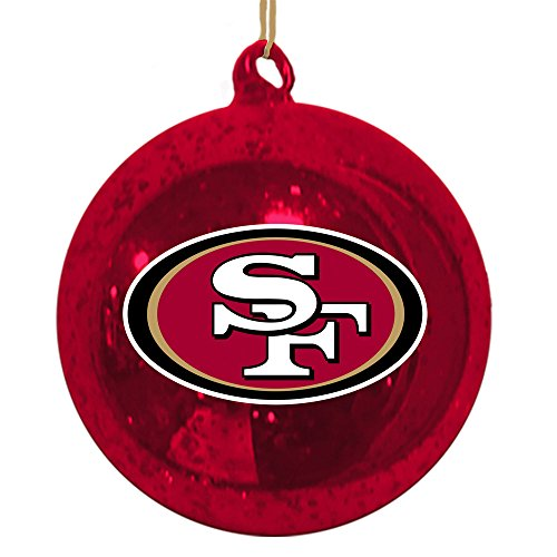 San Francisco 49ers Mercury Glass Ball Ornament