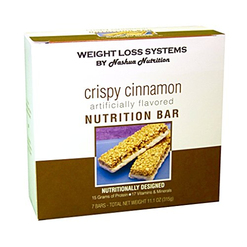 Weight Loss Systems Protein Bar - Crispy Cinnamon - Gluten Free - Kosher - 7/Box by Weight Loss Systems