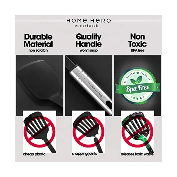 Home Hero Kitchen Utensil Set Cooking Utensils Set - Nylon Kitchen Utensils Set Kitchen Tool Set 44 Pcs. Cooking Utensil… 5