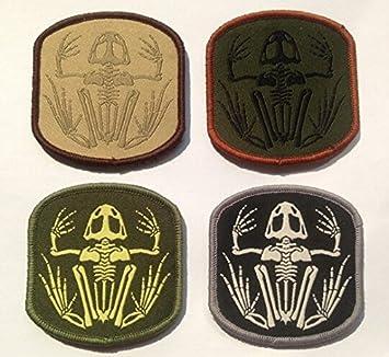 Esqueleto rana Navy Seal insignia Tactical moral parche de Velcro ...