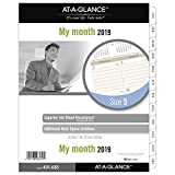 at-A-Glance Day Runner Monthly Planner Refill, January 2019 - December 2019, 8-1/2'' x 11'', Ruled Blocks, Loose Leaf, Size 5 (491-685)