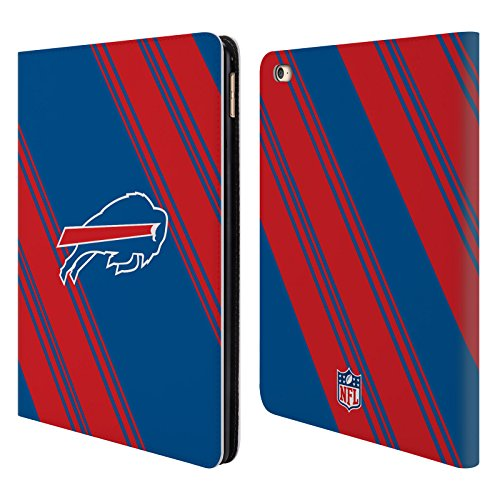 Official NFL Stripes 2017/18 Buffalo Bills Leather Book Wallet Case Cover For Apple iPad Air (Buffalo Bills Nfl Leather)