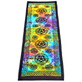 Pentacle Tie Dye Cotton Om Yoga Meditation Mat 24″/72″~ Review