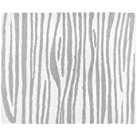 Sweet JoJo Designs Grey Woodgrain Accent Floor Rug for Coral, Mint and Grey Woodsy Kids Bedding Collection