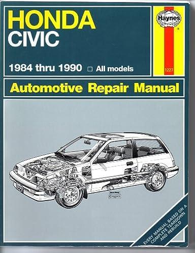 honda civic automotive repair manual 1984 1990 mike stubblefield rh amazon com Car Honda Civic Manual 1990 honda civic repair manual pdf