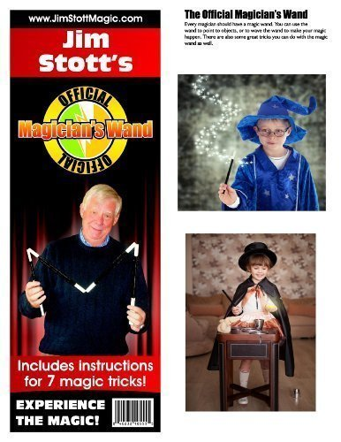 2 Instructional Magic Trick - Jim Stott's 'Official Magician's Magic Wand Kit' Magic Set Includes Magic Wand, Zig Zag Pencil, Two Card Monte, Spot Card, Instructional Videos and More!