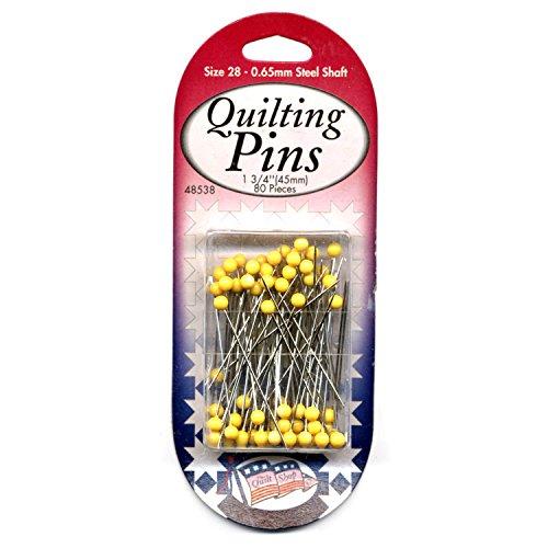 Sullivans Yellow Quilting Pins Size 28, 80 pieces by Sullivans