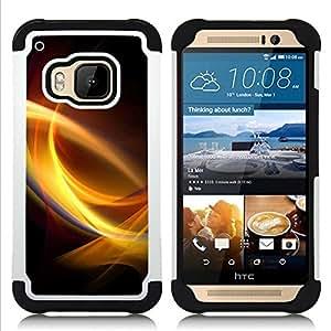 GIFT CHOICE / Defensor Cubierta de protección completa Flexible TPU Silicona + Duro PC Estuche protector Cáscara Funda Caso / Combo Case for HTC ONE M9 // Light Swirls //