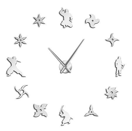 Guokee Japonés Ninja Silencioso Grande DIY Reloj De Pared ...