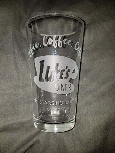 Lukes Diner Pint glass from the Gilmore Girls