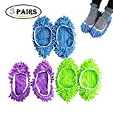 #8: 6pcs (3 Pairs) Mopping Slipper Shoes Cover, Mop Shoes Washable Floor Dusting Cleaning Shoes for Bathroom, Office, Kitchen, House Polishing Cleaning