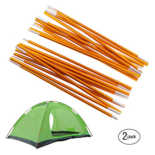 Overmont Adjustable Tarp and Tent Poles 360cm/142in Aluminum Alloy Camping Gear Outdoor Camping Tent Tarp Rod Replacement Accessories for Awning Frames Sun Rain Shelter by Overmont
