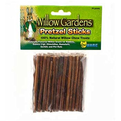 Ware Willow Critters Pretzel Sticks Small Pet Chew [2-Pack] Tasty Pretzel Treats