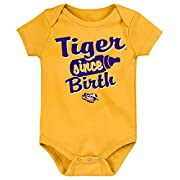 NCAA LSU Tigers Newborn & Infant Since Birth Short Sleeve Alternate Color Bodysuit, Multi, 12 Months