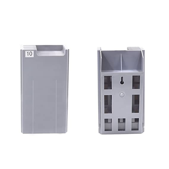 natamo time cards rack with 10 pocketplastic wall mounted cards holder compatible with time card machine - Time Card Machine