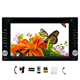2 Din Car Autoradio Stereo Deck Headunit GPS SAT Navigation 6.2-inch In Dash Car CD DVD Player LCD Touch Screen SD/USB Support FM Transmitter Subwoofer Output Steering Wheel Control 3D Interface Bluetooth Car logo Remote Control