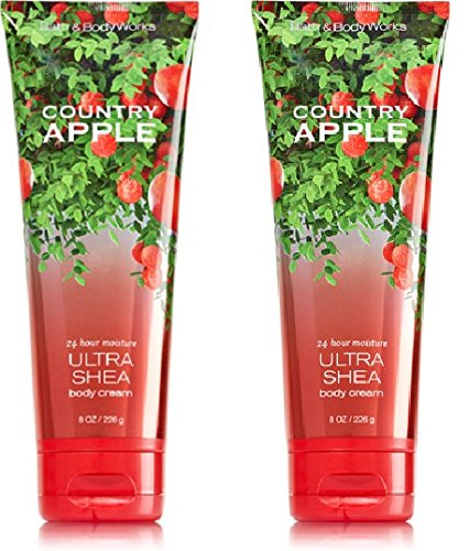 Bath and Body Works (2) Country Apple Body Creams-8 oz. Bottles