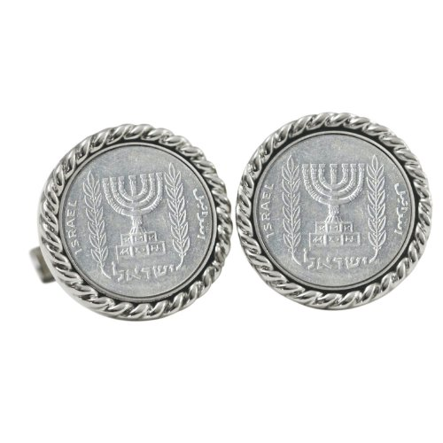 American Coin Treasures Israel Menorah Coin Cuff -