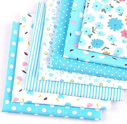 7 Unids/set 50x50 cm azul Tela de Algodón para Patchwork Edredones Patchwork Telas Tejido Costura bebé DIY Artesanía de Tela cp2127: Amazon.es: Belleza
