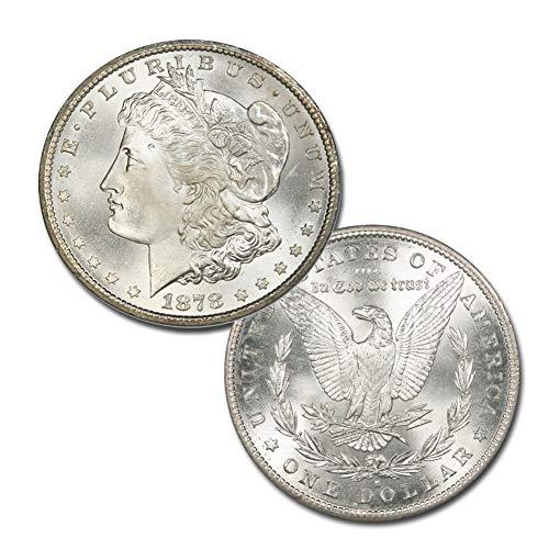 1878 S Morgan Silver Dollar $1 Brilliant Uncirculated (1878 Morgan Silver Dollar Coins)