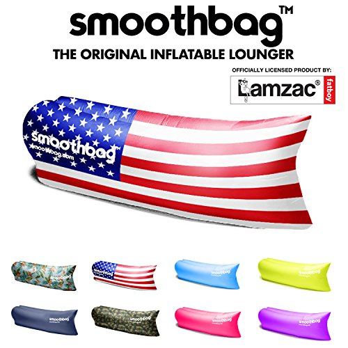 SmoothBag Premium Inflatable Lounger Sofa Banana Chair Hammock for Camping, Hiking, Festivals, Lounging | Lazybag, Lamzac, Vansky Style Lounging Couch, Chair and Air Chaise Lounge (USA)