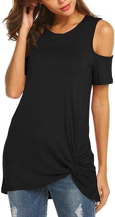 Luckyat Camisetas Mujer Verano Blusa Mujer Elegante Camisetas ...
