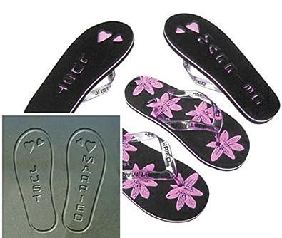bb75ac3fb592b Bride Boutique Just Married Mr   Mrs Bride   Groom Flip Flops Sandals  Wedding Honeymoon Gift (Womens Black   Pink (Size 3-4))  Amazon.co.uk  Shoes    Bags