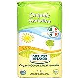 Molino Grassi Organic Durum Wheat Semolina Flour - 2.2 lb (2 Pack)
