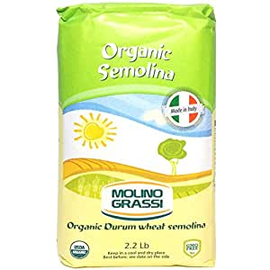 Amazon.com : Molino Grassi Organic Durum Wheat Semolina