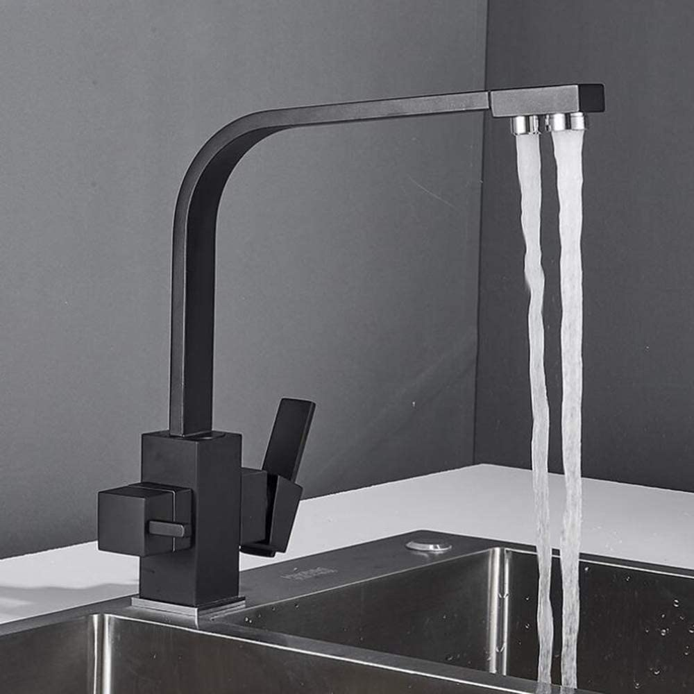 DBWIN 3-Way Kitchen Tap for Water Filter Drinking Water Sink Tap ; Rotatable 3 in 1 Mixer Tap