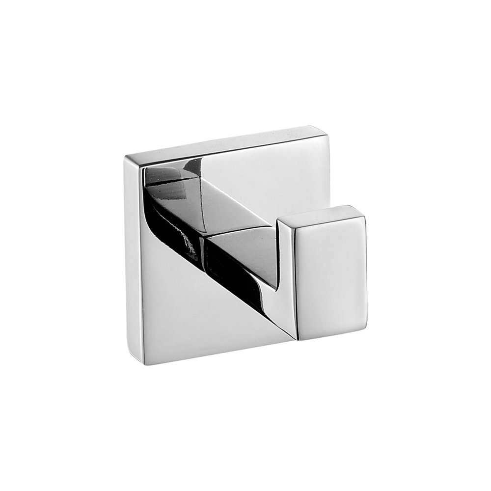 Leyden 2 Pieces Wall Mount Kitchen Chrome Finish Stainless Steel Material Single Robe Hooks