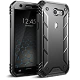 Poetic Revolution Galaxy J3 Emerge Rugged Case Cover Heavy Duty and Built-In Screen Protector for Samsung Galaxy J3 (2017) / J3 Prime / Amp Prime 2/ Express Prime 2 Black