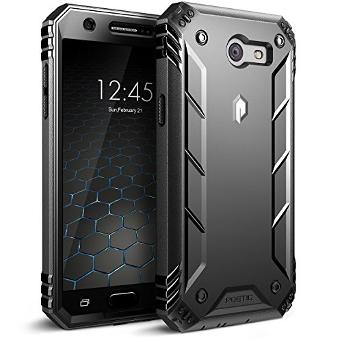 Price comparison product image Poetic Revolution Galaxy J3 Emerge Rugged Case Cover Heavy Duty and Built-In Screen Protector for Samsung Galaxy J3 (2017) / J3 Prime / Amp Prime 2/ Express Prime 2 Black