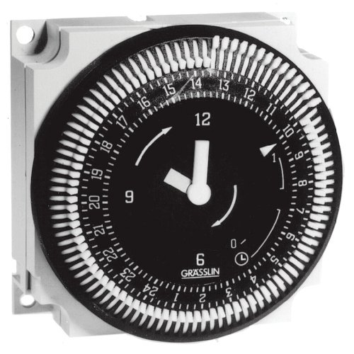 Grasslin by Intermatic FM1STUZ220/50 24-Hour 21 A, 220 V, 50 Hz Electromechanical Timer Module
