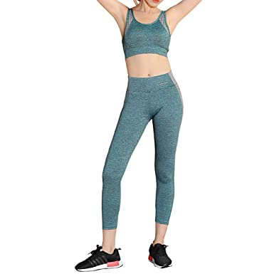 Conjunto de Ropa de Yoga para Mujeres, Sujetador Deportivo a ...