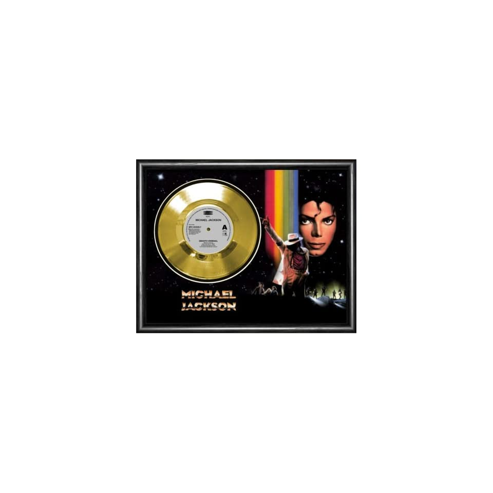 Michael Jackson Smooth Criminal Framed Gold Record A3