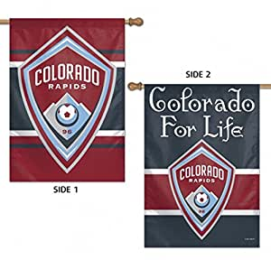 "Colorado Rapids Double Sided MLS House Flag Licensed Soccer 28"" X 40"""