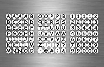 Aufkleber Sticker Alphabet Buchstaben Zahl Zahlen Mulleimer