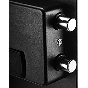 AmazonBasics Home Keypad Safe – 1.52 Cubic Feet, 13.8 x 13 x 16.5 Inches, Black