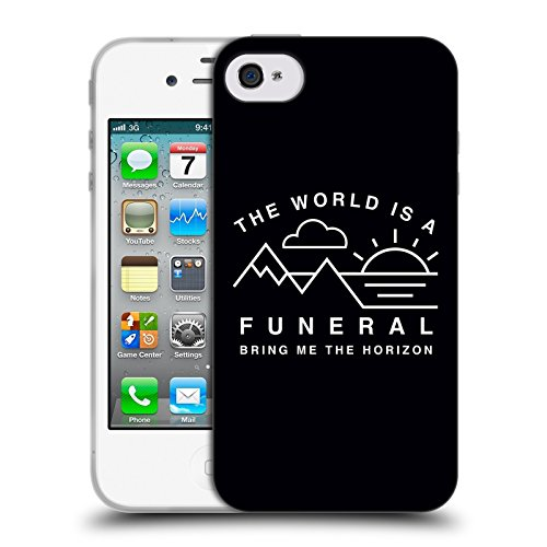 Official Bring Me The Horizon The World is a Funeral Key Art Soft Gel Case for Apple iPhone 4 / 4S
