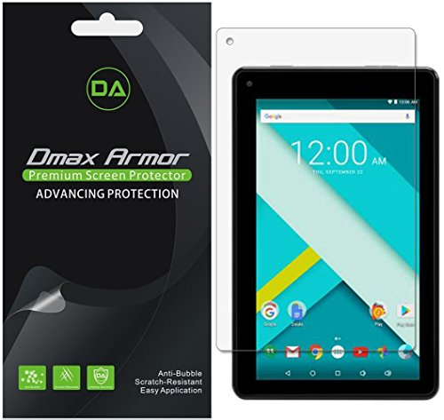[3-Pack] Dmax Armor- RCA Voyager III 7 inch (RCT6973W43) Screen Protector High Definition Clear Shield - Lifetime Replacements Warranty- Retail Packaging (7 For Tablet Protector Screen Rca)
