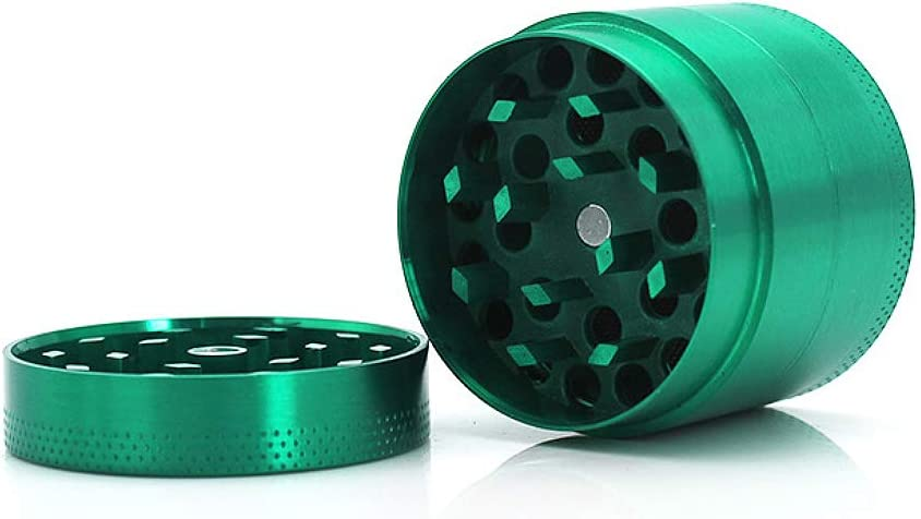 Greetuny 1X 40mm Grinder Metalico 4 Piezas Molinillo de Semillas, Pimienta,Especias,Tabaco,Hierbas (Verde)