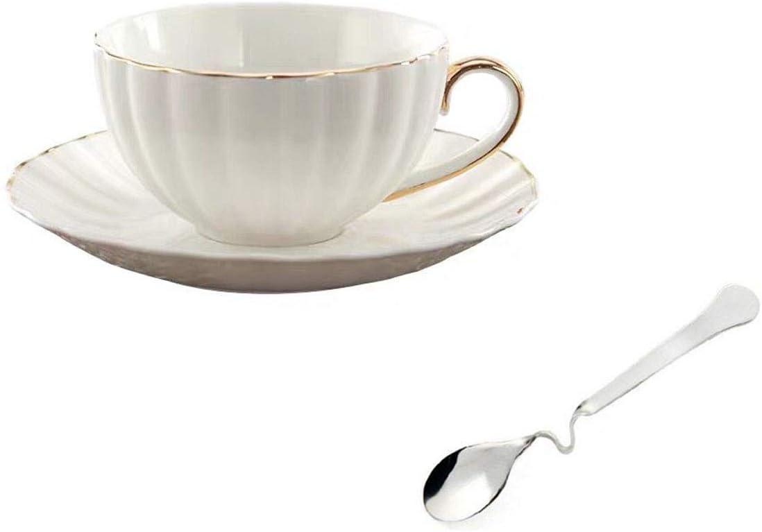 YBK Tech Classic Tasse /à caf/é et Soucoupe en Porcelaine Anglaise pour la Maison la Cuisine Le th/é
