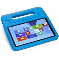 Pwr+ DELL VENUE-8-PRO Case for Kids (Blue) : Protective Cover for DELL VENUE 8 PRO (3845, 5830) and VENUE 8 (3840) Kid Friendly Shockproof Light Weight Tablet Cover Stand KickStand Sleeve with Handle