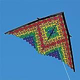 11ft Rainbow Mesh Delta Kite